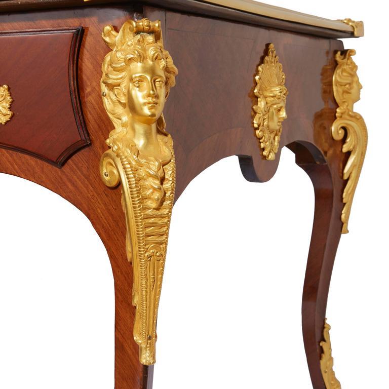 Louis XV Large Regence Style Ormolu Mounted Bureau Plat For Sale