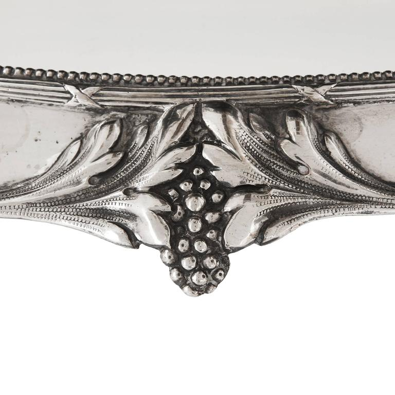 Solid Silver Art Nouveau Tea Table by Schleissner & Sohne 6