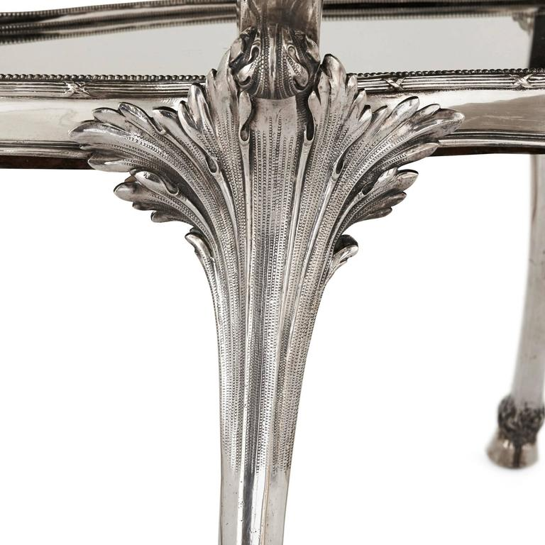 Solid Silver Art Nouveau Tea Table by Schleissner & Sohne 7