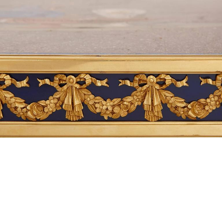Italian Porphyry, Lapis Lazuli and Pietra Dura Coffee Table For Sale 1