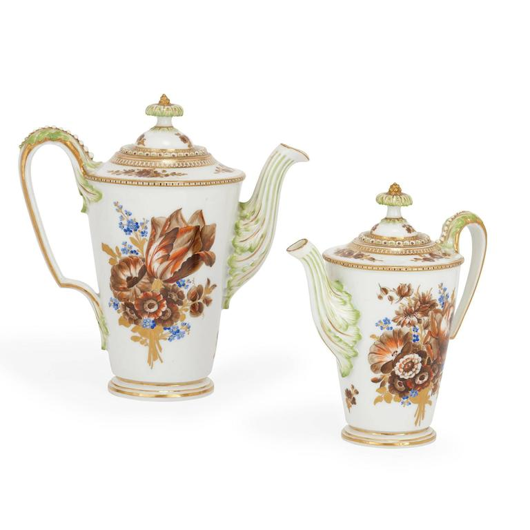 Fine Meissen Porcelain Antique Tea And Coffee Set For Sale