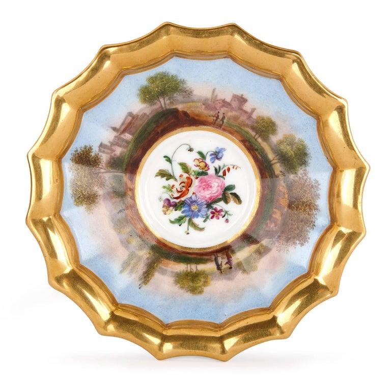Neoclassical Style French Antique Paris Porcelain Eight-Piece Tea Set 6