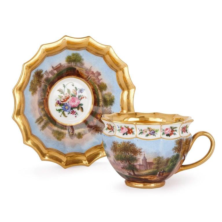 Neoclassical Style French Antique Paris Porcelain Eight-Piece Tea Set 5