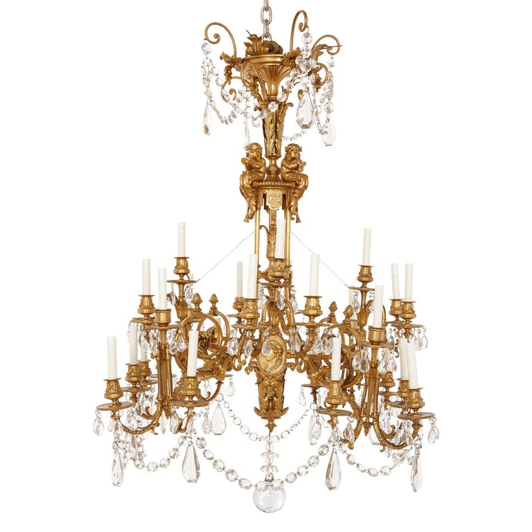 neoclassical lighting. french antique neoclassical style gilt bronze and cutglass chandelier 1 lighting r