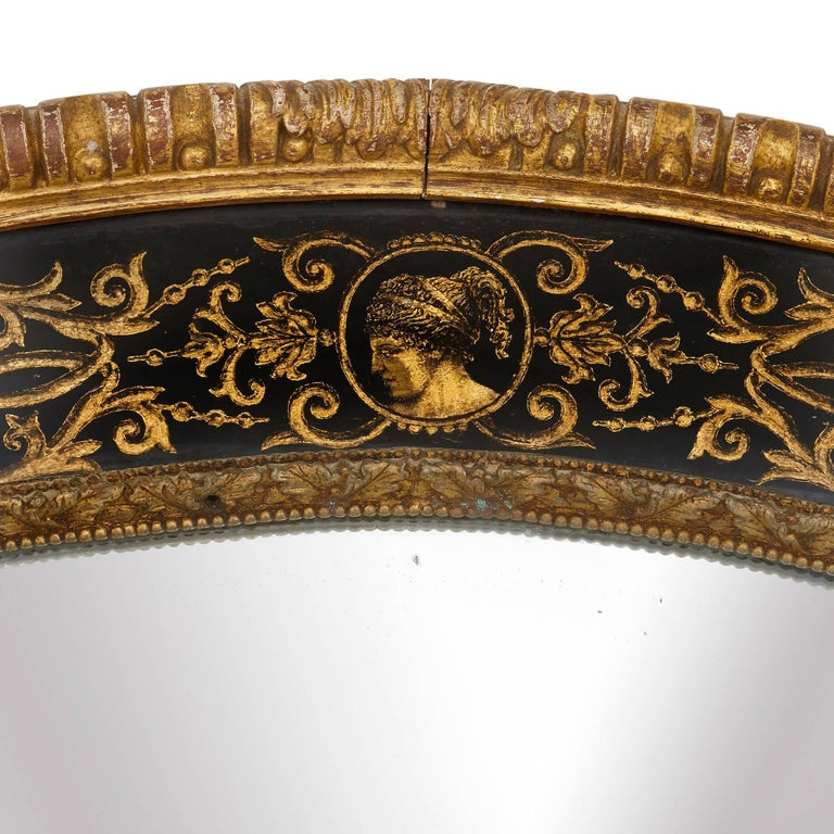 Italian Antique Giltwood Louis XIV Style Mirror For Sale