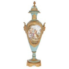 Sevres Style Porcelain and Gilt Bronze Antique Vase