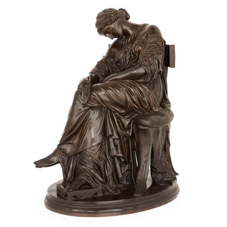Classical Style Bronze Sculpture of Penelope by Cavelier and Barbedienne