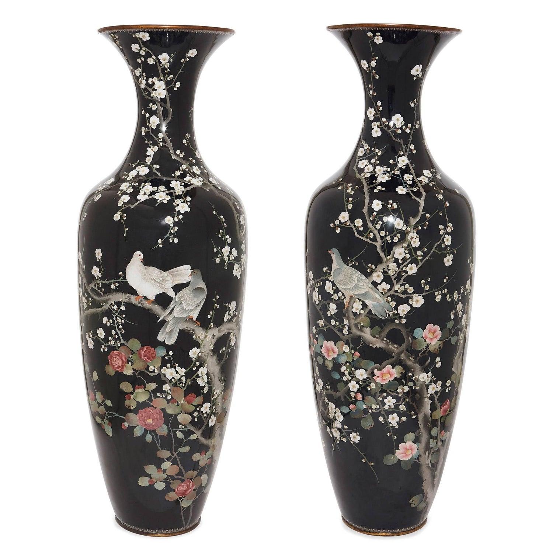 Pair of japanese meiji period cloisonne enamel vases for sale at pair of japanese meiji period cloisonne enamel vases for sale at 1stdibs reviewsmspy