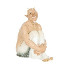 Antique Meissen Porcelain Satyr