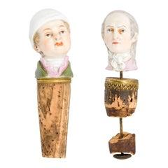 Collectible Antique Meissen Porcelain Bottle Stops