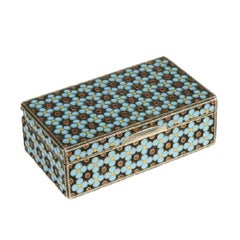 Grachev Brothers Russian Silver Gilt and Cloisonné Enamel Snuff Box