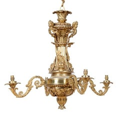 French Gilt Bronze Chandelier in the Regence Style