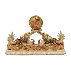 Chinese Bone Carving of Dragons
