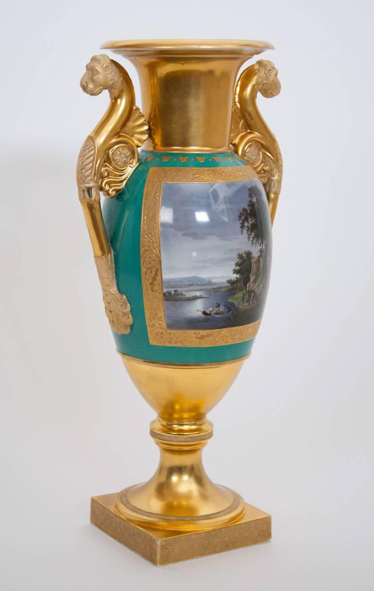 Russian Gilt Ground Porcelain Vase by Gardner Factory For Sale at