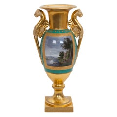 Russian Gilt Ground Porcelain Vase by Gardner Factory