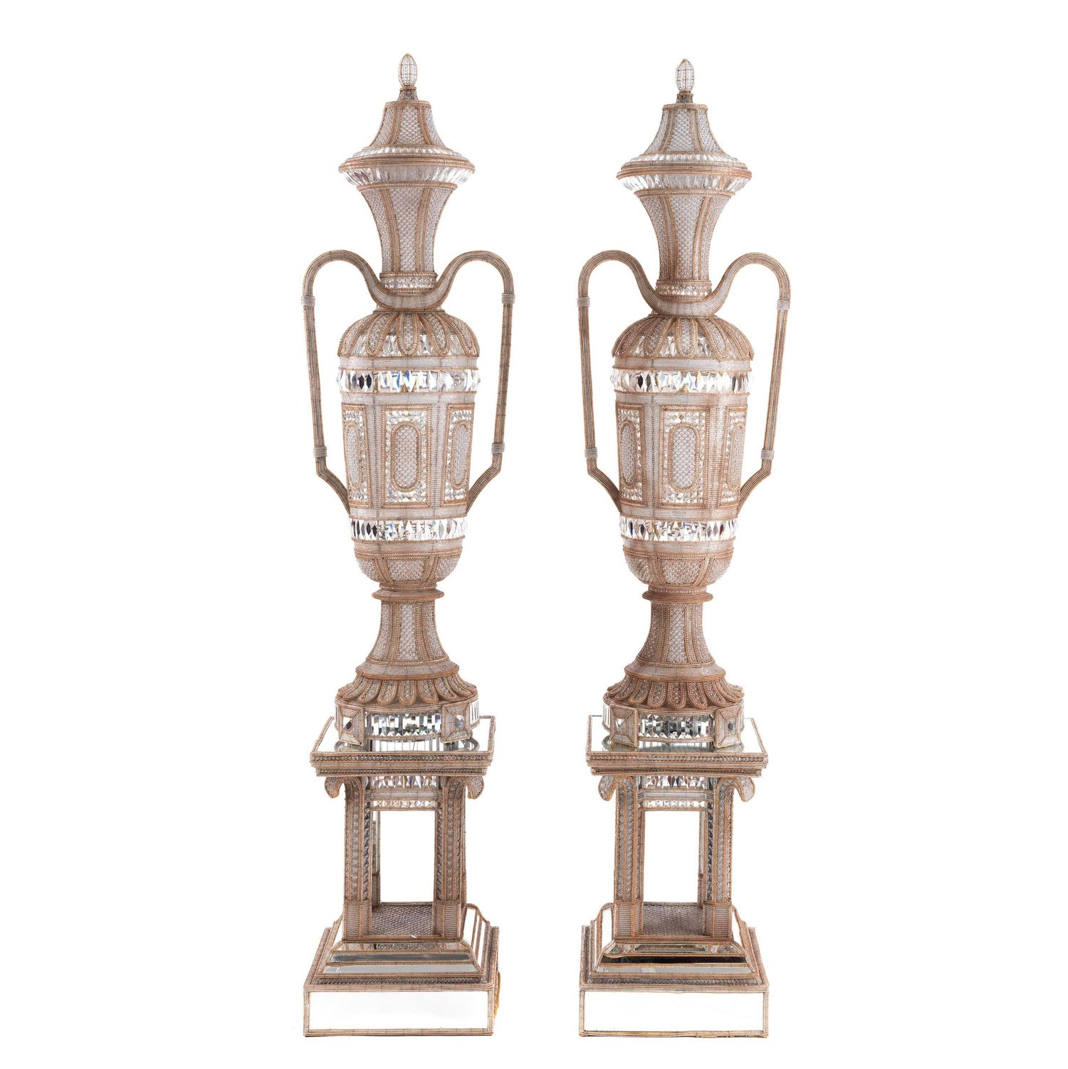 Pair of antique cut glass and mirrored lamp vases for sale at 1stdibs reviewsmspy