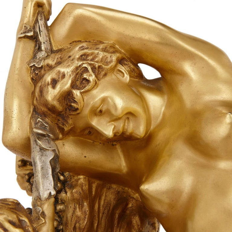Ormolu 19th Century French Gilt Bronze Sculpture of a Baccante, by Jean-Léon Gérôme For Sale