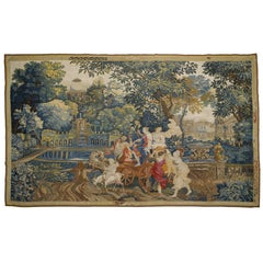 Bacchus and Ariadne, early 18th Century mythological tapestry