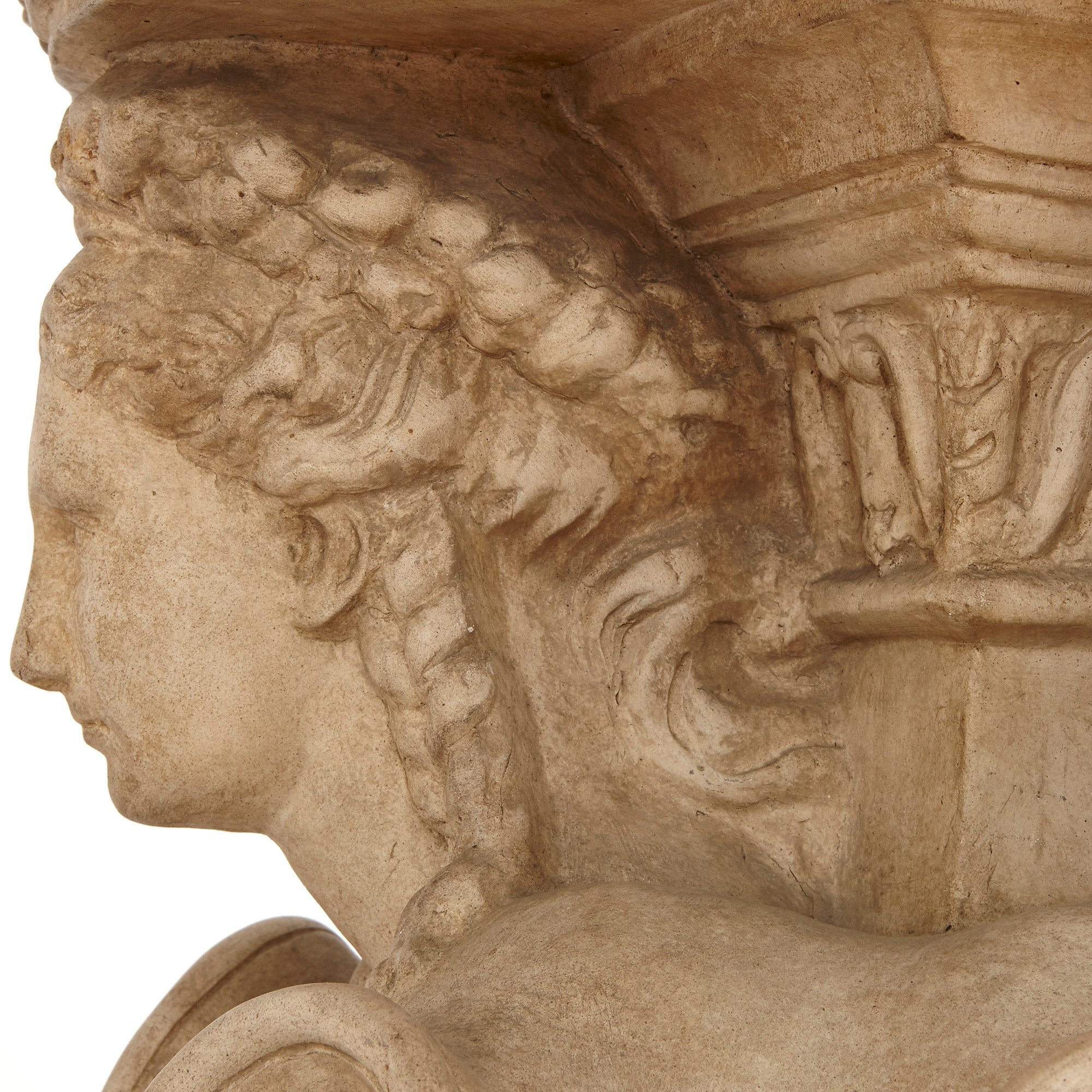 Antique Neoclassical Style Italian Pedestal by Manifattura di Signa