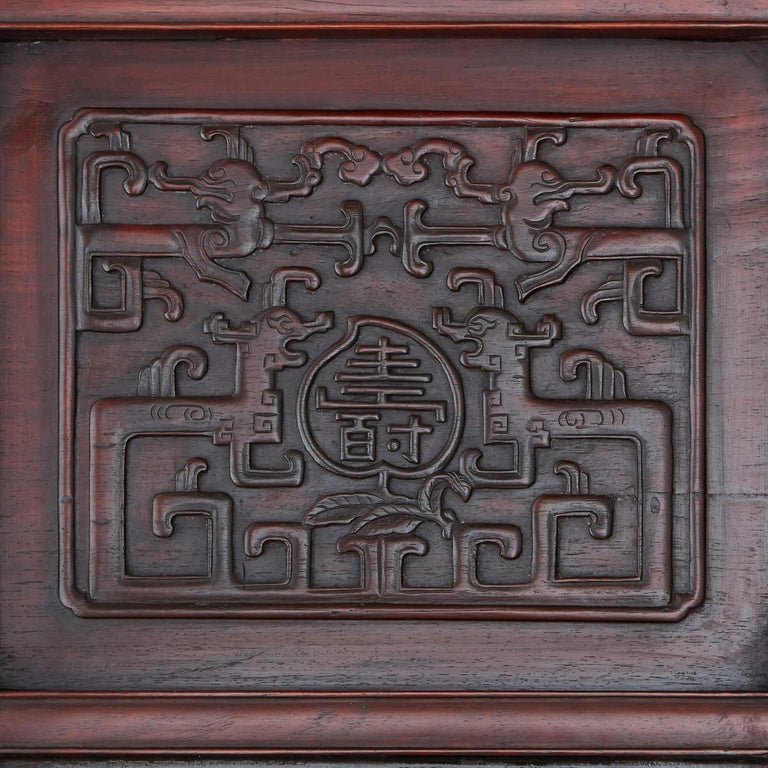 Cloissoné Chinese Hardstone, Cloisonne Enamel and Lacquer Screen For Sale