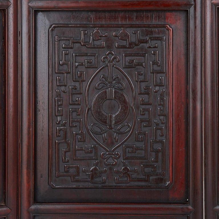 Chinese Hardstone, Cloisonne Enamel and Lacquer Screen In Good Condition For Sale In London, GB