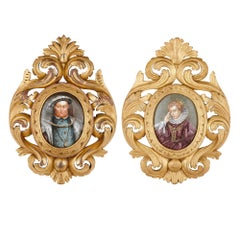 Two Limoges Enamel Paintings Including Portrait of Henry VIII