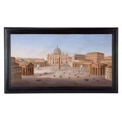 Monumental 19th Century Italian Micromosaic of the Vatican