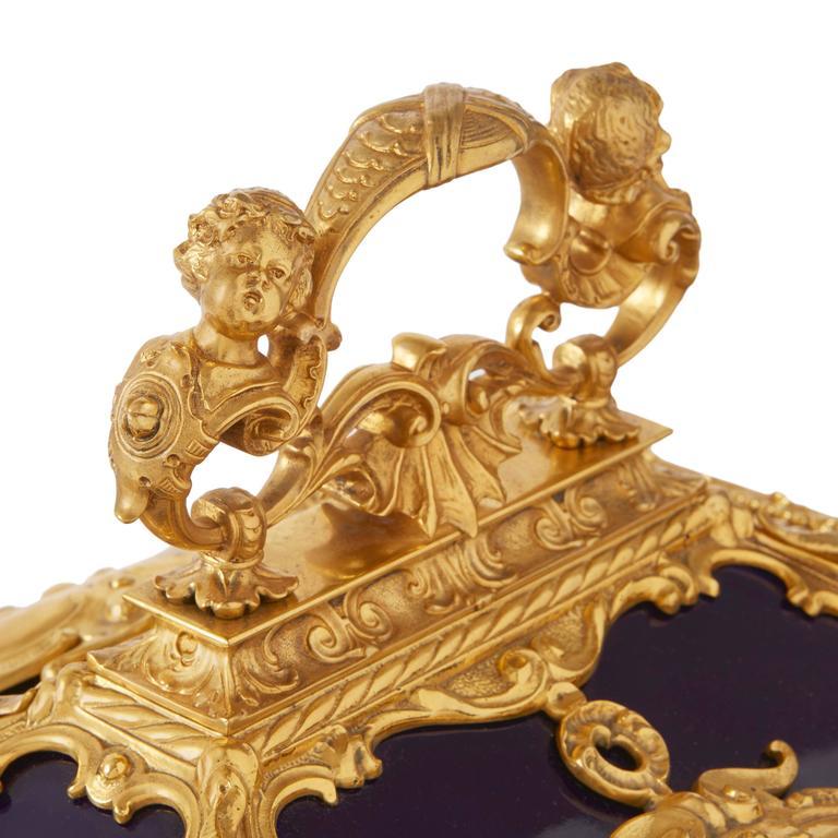 Louis XVI Style Ormolu-Mounted KPM Porcelain Casket 3