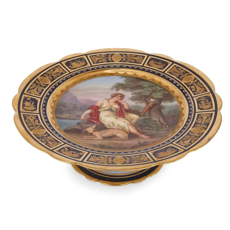 Austrian Fine Royal Vienna Porcelain 18-Piece Dessert Service For Sale