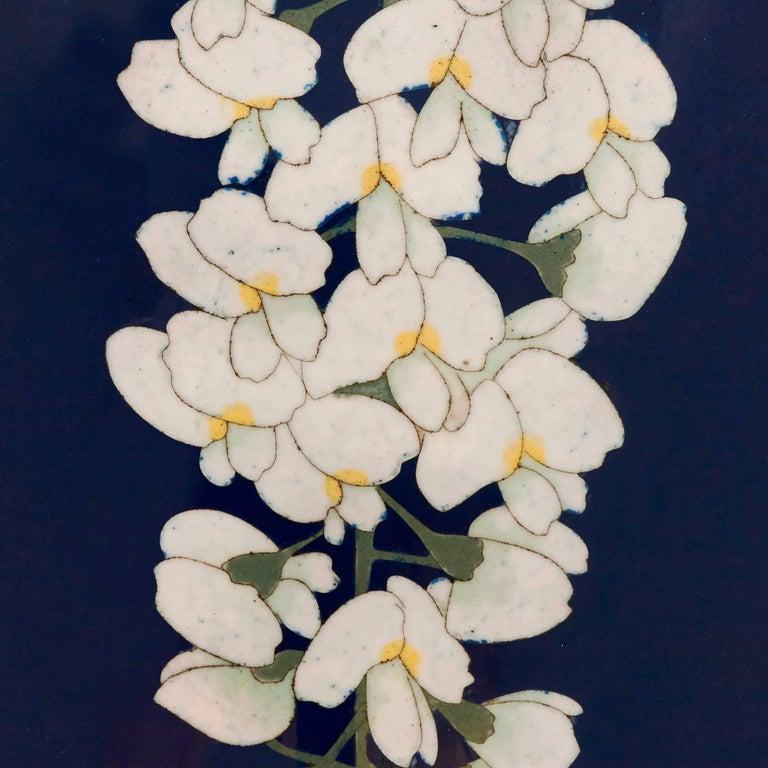 Pair of Antique Cloisonne Enamel Japanese Meiji Period Vases For Sale 1
