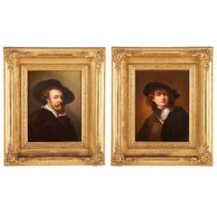 Pair of 19th Century KPM Porcelain Plaques