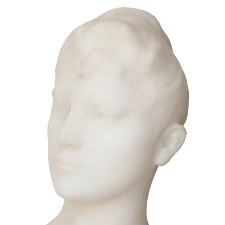 19th Century French Marble Sculpture by Falguiere In Excellent Condition For Sale In London, GB
