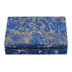 Lapis Box Hinged Blue