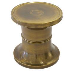 Chunky Brass Side Table by Mastercraft