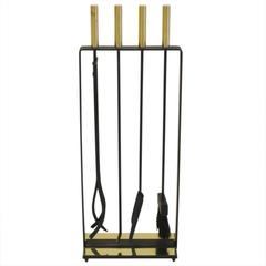Pilgrim Fireplace Tools Brass and Wrought Iron, USA, 1970s