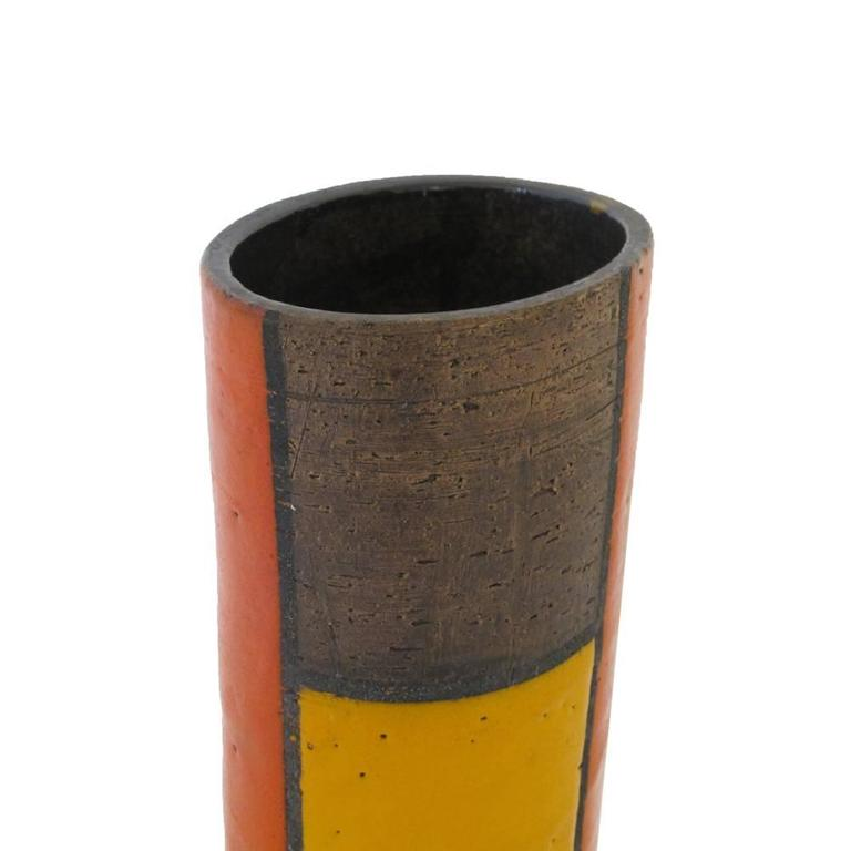 Aldo londi bitossi raymor ceramic vase mondrian signed for Mondrian vase