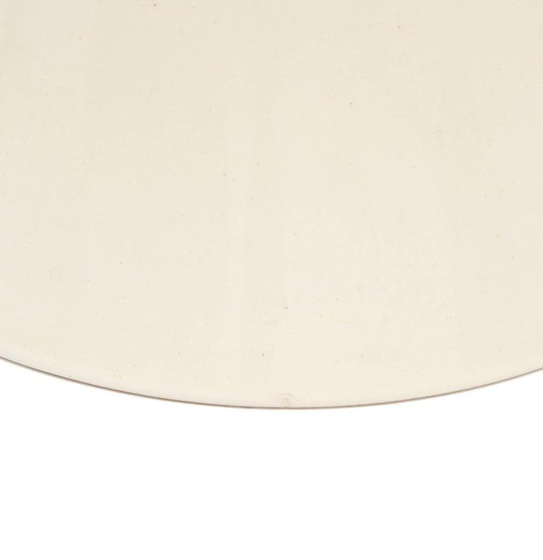 Glazed Bitossi Ceramic Vase Metallic Chrome Silver Black White Signed, Italy, 1970s For Sale