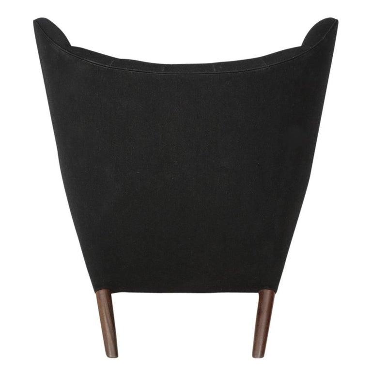 Hans Wegner Papa Bear Chair and Ottoman Teak A.P. Stolen Signed Denmark, 1960s 5