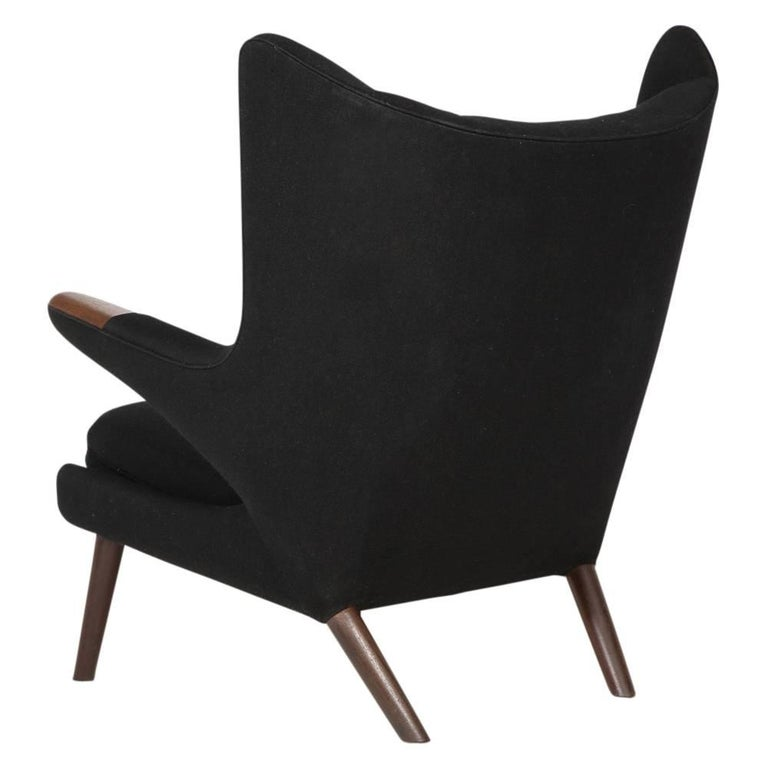 Hans Wegner Papa Bear Chair and Ottoman Teak A.P. Stolen Signed Denmark, 1960s 6