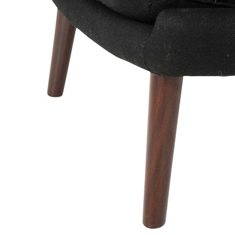Hans Wegner Papa Bear Chair and Ottoman Teak A.P. Stolen Signed Denmark, 1960s 8