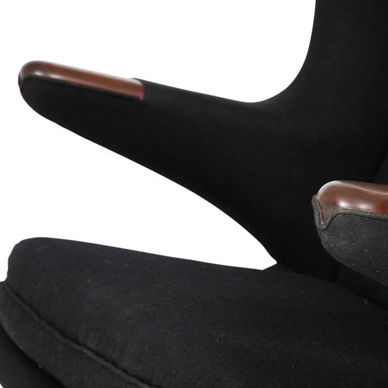 Hans Wegner Papa Bear Chair and Ottoman Teak A.P. Stolen Signed Denmark, 1960s 9
