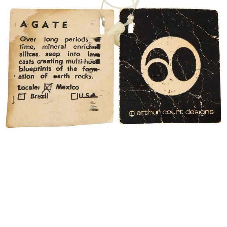 Arthur Court Agate, Mineral Sculpture, Signed For Sale 3