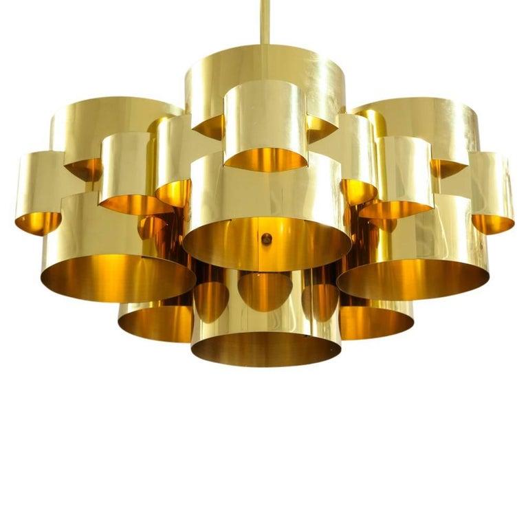 American C. Jere Brass Cloud Chandelier For Sale