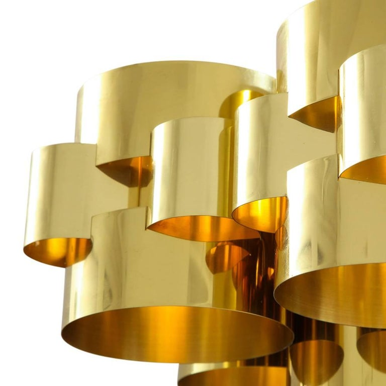 C. Jere Brass Cloud Chandelier In Good Condition For Sale In New York, NY