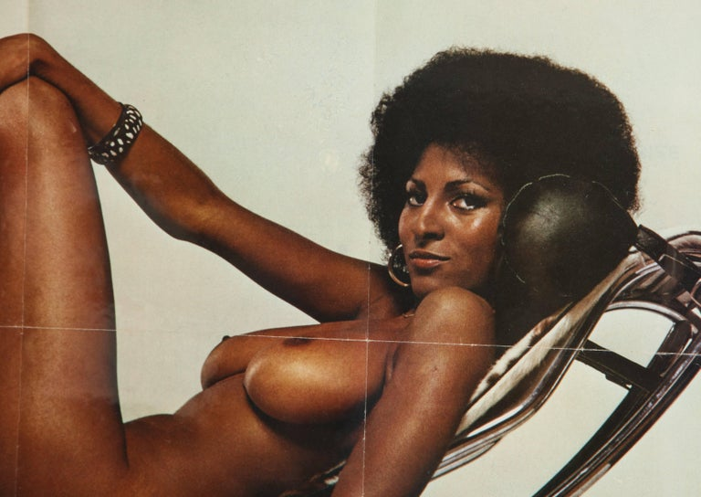 Pam Grier Poster Players Magazine Le Corbusier Lounge Nude Centerfold Usa 1980 Iconic Pam Grier