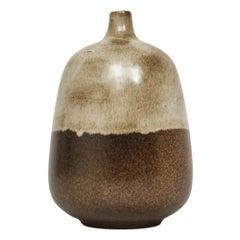 Raymor Bitossi Ceramic Vase Bagni Earth Tones Signed, Italy, 1960s