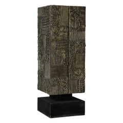 Paul Evans Sculpted Bronze Resin Cabinet Signed, USA, 1970s