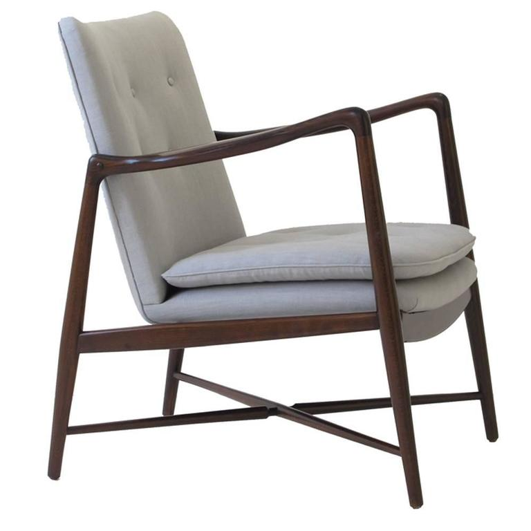 Finn juhl bo 59 beechwood lounge chair for bovirke signed for 1950s chair styles