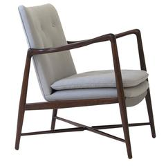 Finn Juhl BO-59 Beechwood Lounge Chair for Bovirke, Signed Denmark 1950's