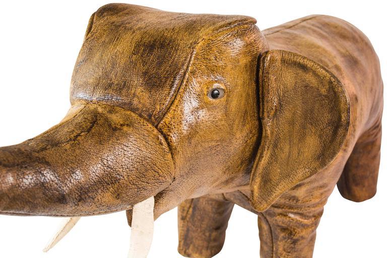 Leather Elephant Ottoman Abercrombie Style Footstool